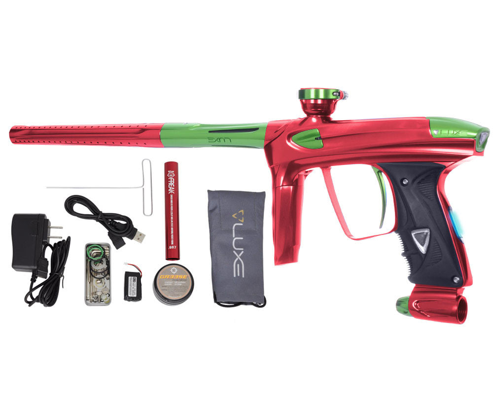 DLX Luxe 2.0 OLED Paintball Gun - Red/Slime Green