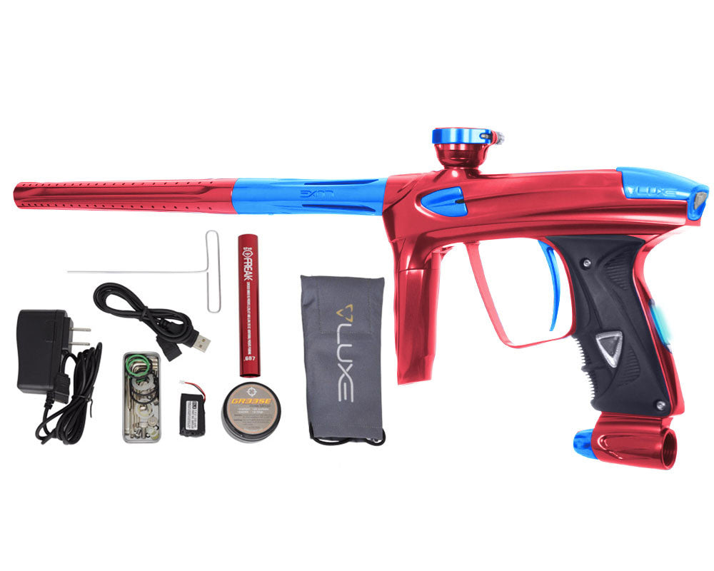 DLX Luxe 2.0 OLED Paintball Gun - Red/Teal