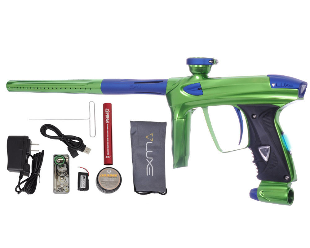 DLX Luxe 2.0 OLED Paintball Gun - Slime Green/Dust Blue