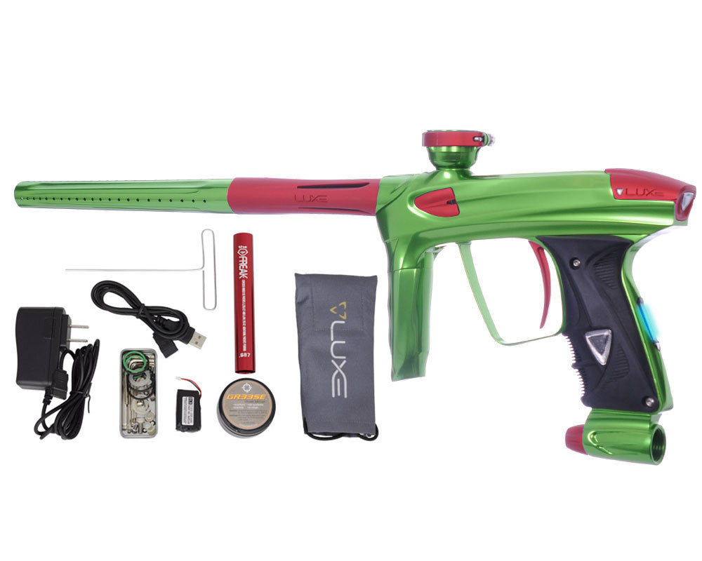 DLX Luxe 2.0 OLED Paintball Gun - Slime Green/Dust Red