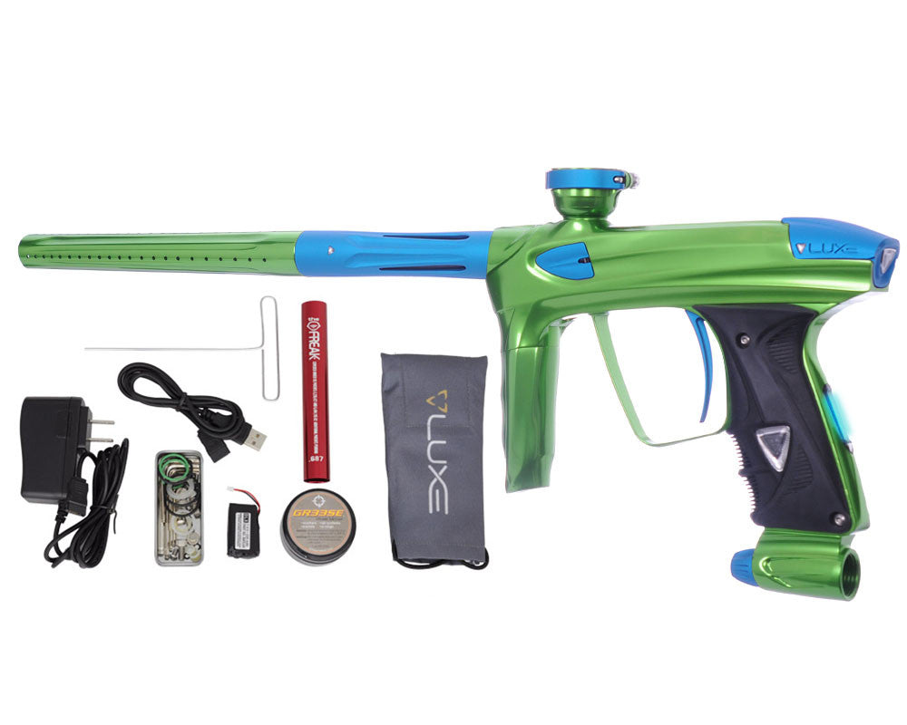 DLX Luxe 2.0 OLED Paintball Gun - Slime Green/Dust Teal