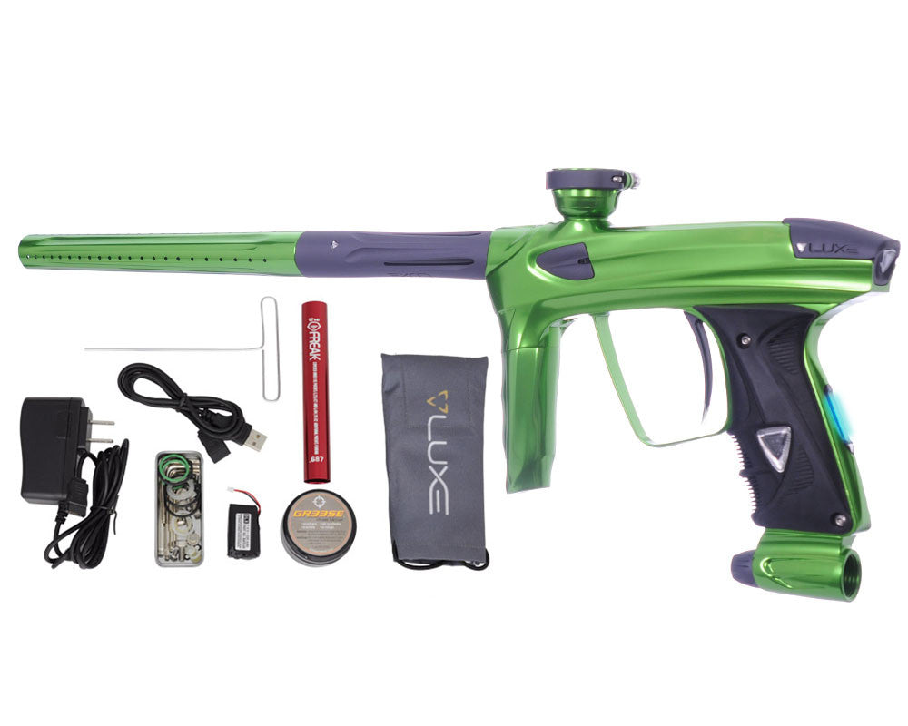 DLX Luxe 2.0 OLED Paintball Gun - Slime Green/Dust Titanium