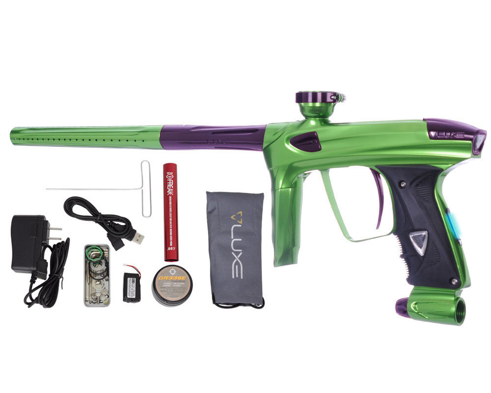 DLX Luxe 2.0 OLED Paintball Gun - Slime Green/Eggplant
