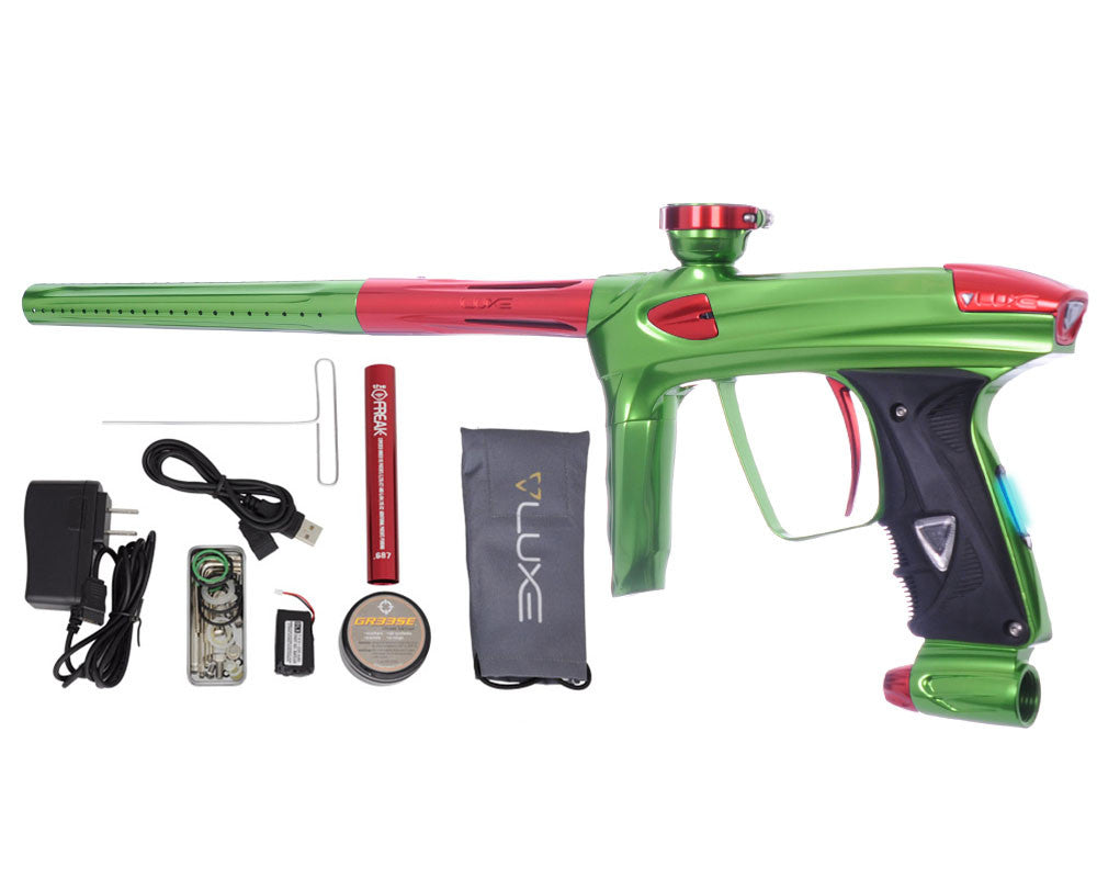 DLX Luxe 2.0 OLED Paintball Gun - Slime Green/Red