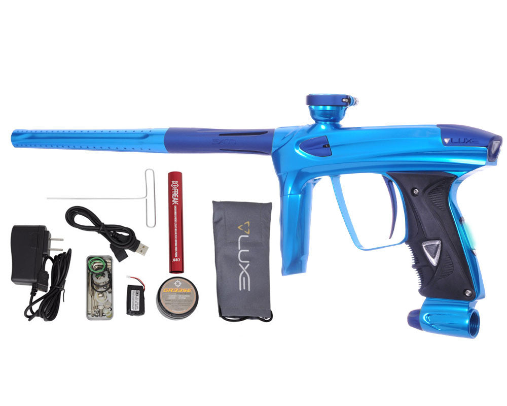DLX Luxe 2.0 OLED Paintball Gun - Teal/Dust Blue
