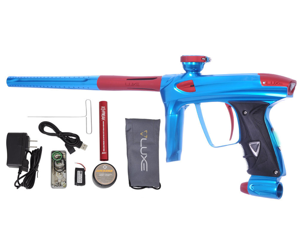 DLX Luxe 2.0 OLED Paintball Gun - Teal/Dust Red