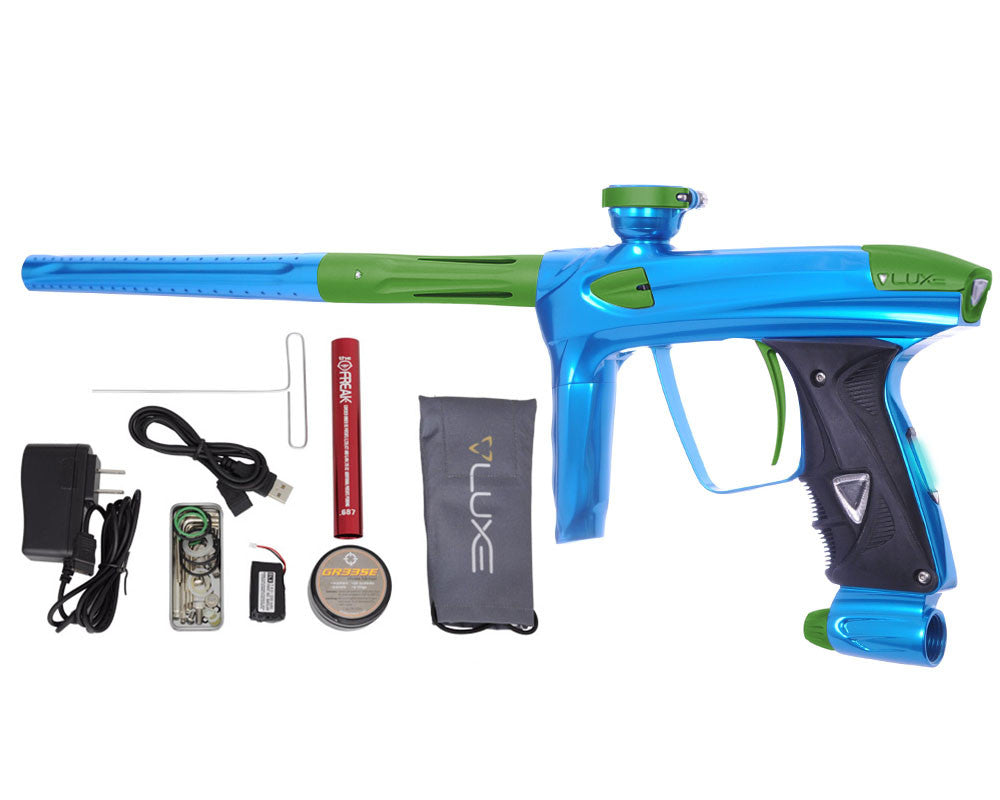 DLX Luxe 2.0 OLED Paintball Gun - Teal/Dust Slime Green