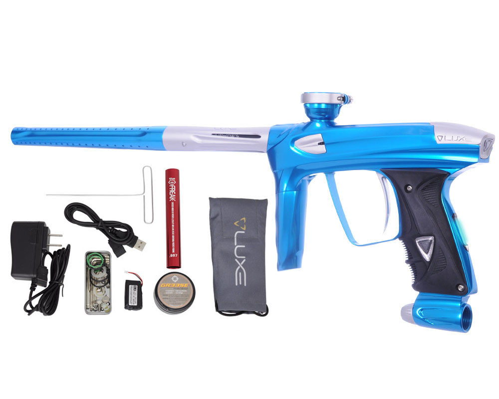 DLX Luxe 2.0 OLED Paintball Gun - Teal/Dust White