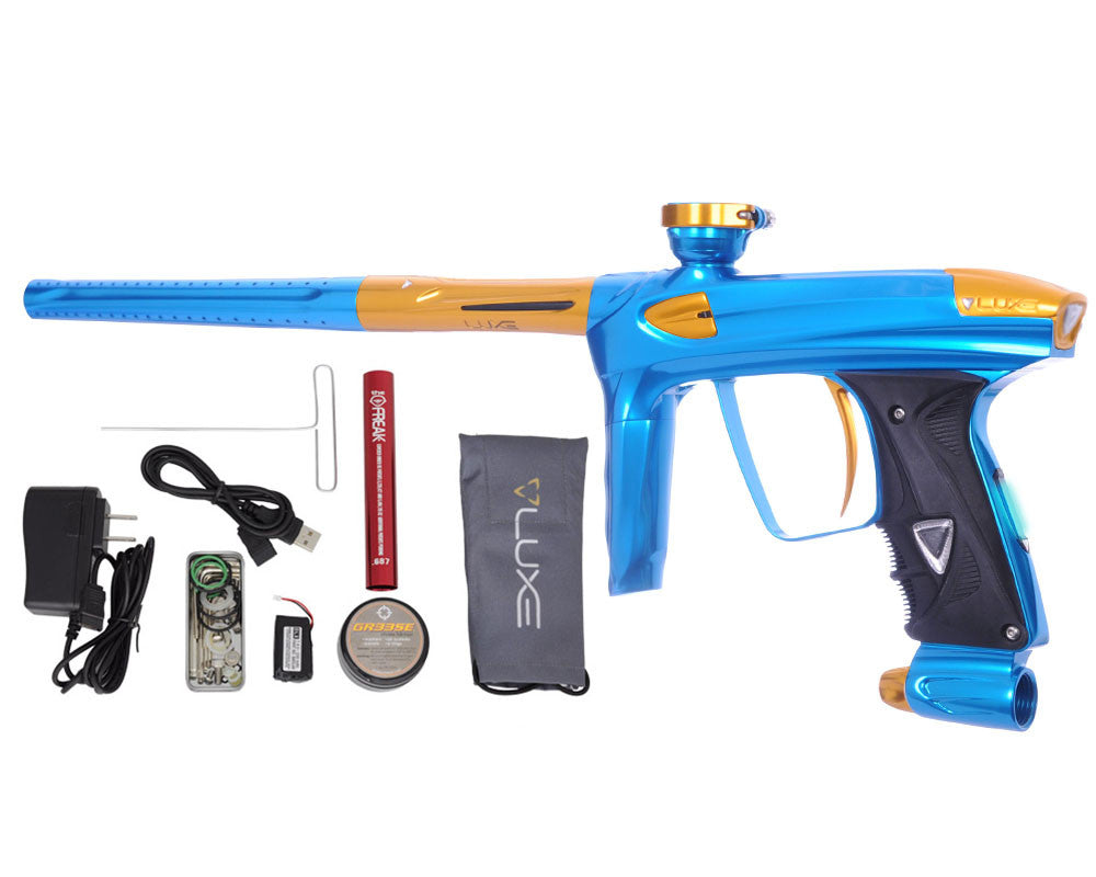 DLX Luxe 2.0 OLED Paintball Gun - Teal/Gold