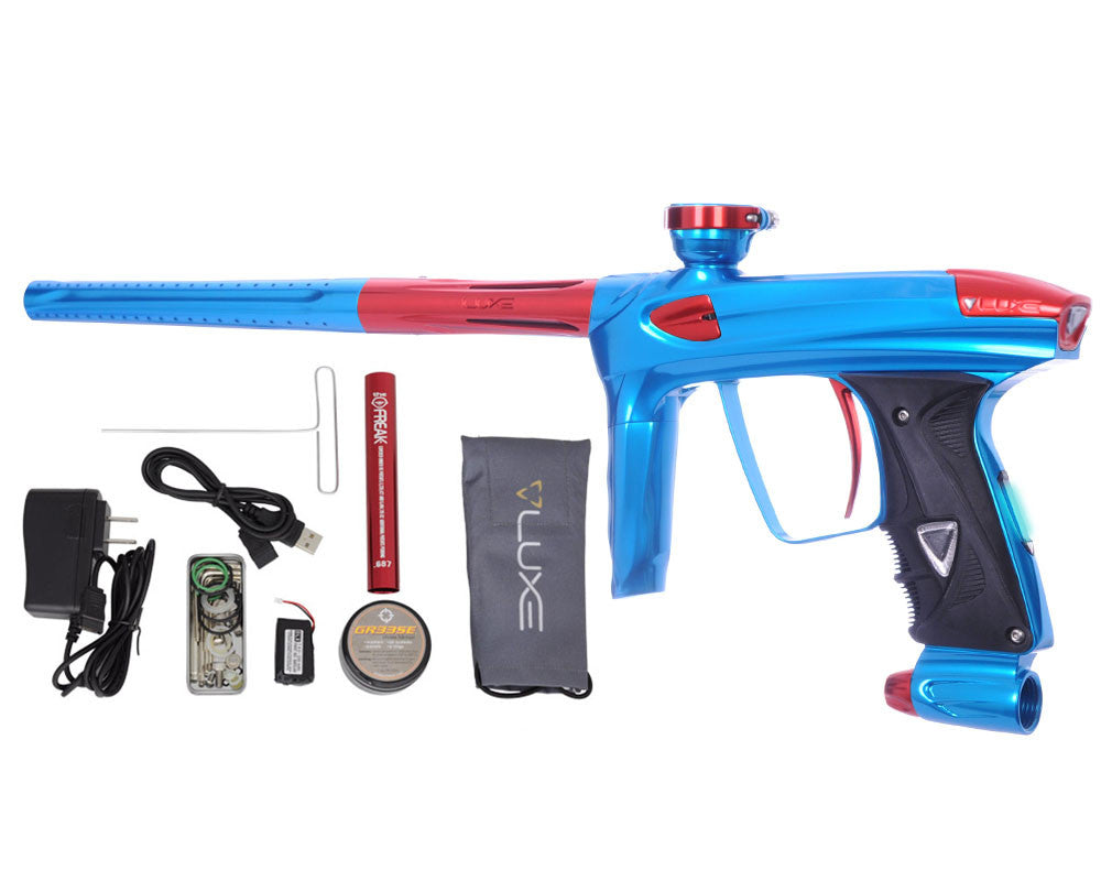 DLX Luxe 2.0 OLED Paintball Gun - Teal/Red