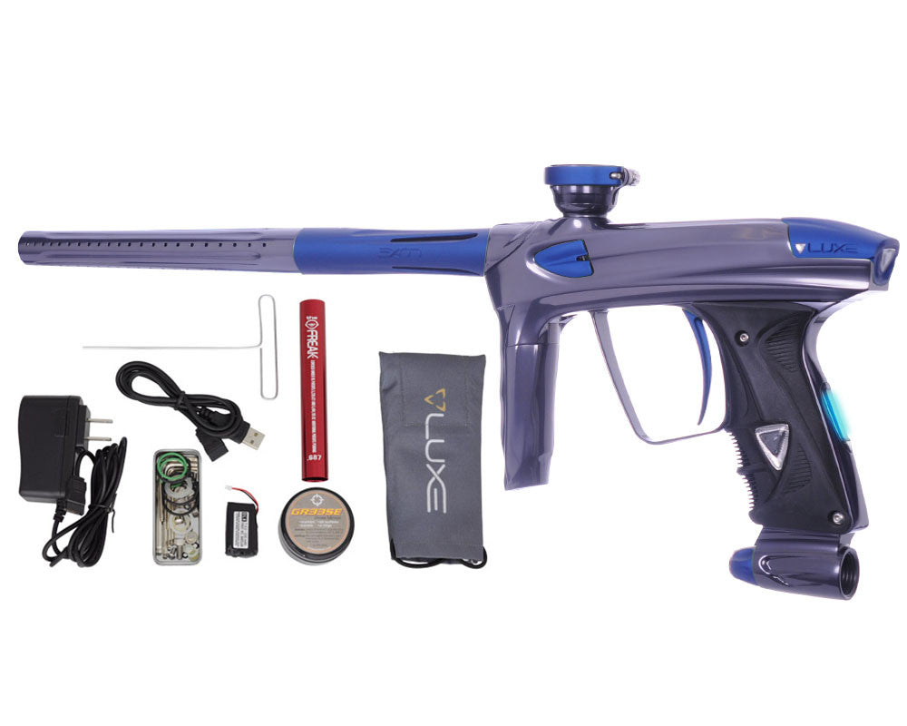 DLX Luxe 2.0 OLED Paintball Gun - Titanium/Dust Blue