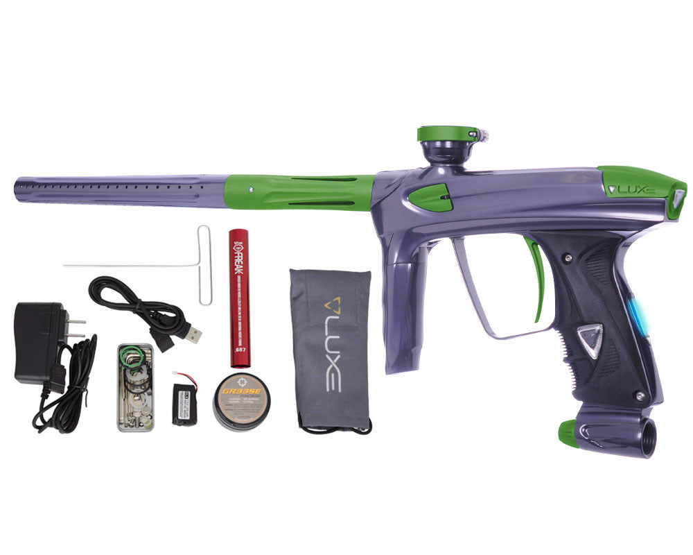 DLX Luxe 2.0 OLED Paintball Gun - Titanium/Dust Slime Green