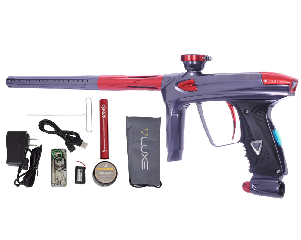 DLX Luxe 2.0 OLED Paintball Gun - Titanium/Red