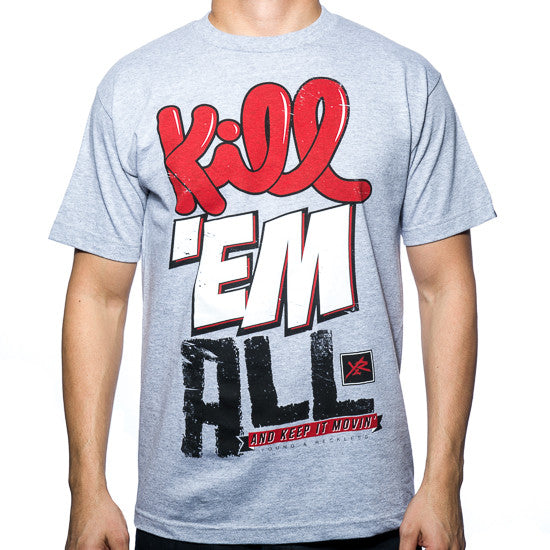 Young and Reckless Kill Em All - Heather Grey - Men's T-Shirt