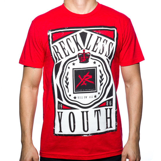 Young and Reckless Crowned - Red - Men's T-Shirt
