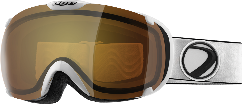 Dye T1 White Snowboard Goggles w/ Additional Lens - Bronze Fire