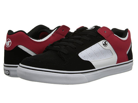 DVS Militia CT - Black/White/Red Leather 003 - Skateboard Shoes