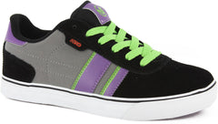 DVS Milan 2 CT - Kids - Black/Grey/Purple Nubuck 002 - Skateboard Shoes