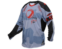 2014 Dye C14 Paintball Jersey - Bomber Blue/Red