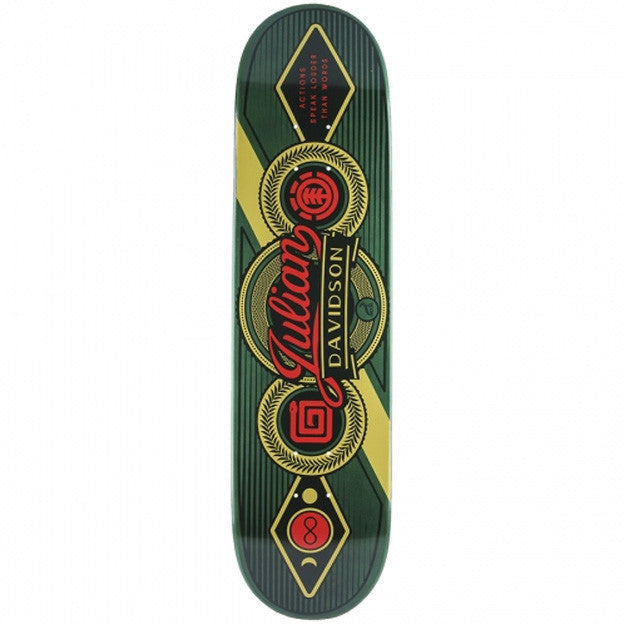 Element Davidson Signage Helium - Green - 8.1 - Skateboard Deck