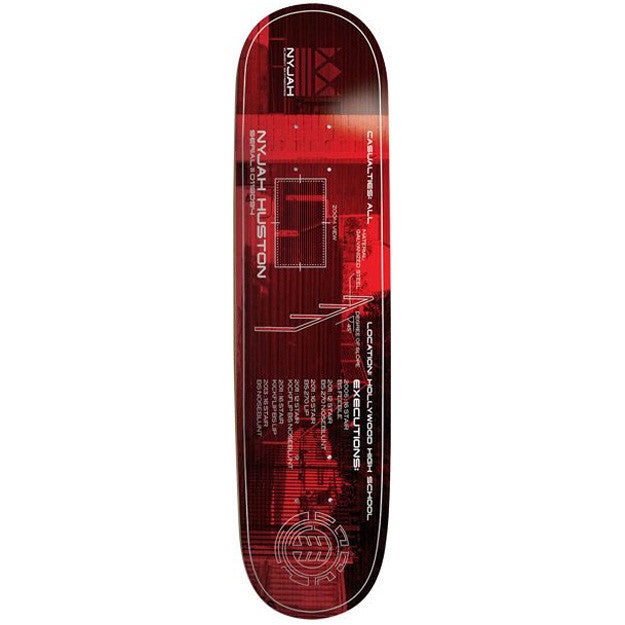 Element Nyjah Hollywood - Red - 8.25 - Skateboard Deck