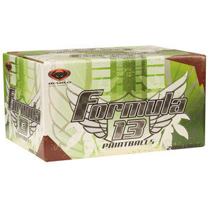 Diablo Formula 13 .50 Caliber Paintballs Case 2000 Rounds - Green - Orange Fill