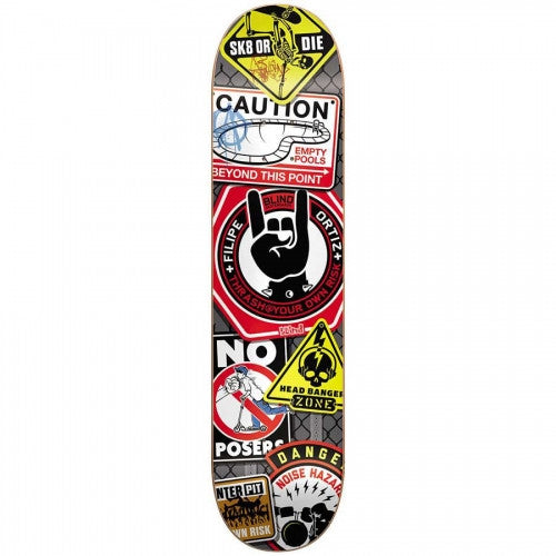 Blind Warnings R8 Filipe Ortiz - Multi - 8.25 - Skateboard Deck