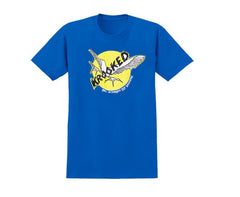 Krooked Fly Strait S/S - Royal Blue - Men's T-Shirt