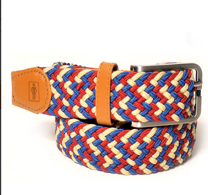 Girl Buffet Weave - Red - Men's Belt
