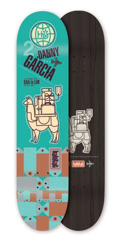 Habitat Danny Garcia Pack Animal - Cyan - 8.0 - Skateboard Deck