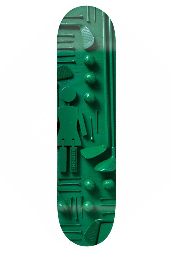 Girl Koston Paint It Black - 8.25 Inch - Green - Skateboard Deck