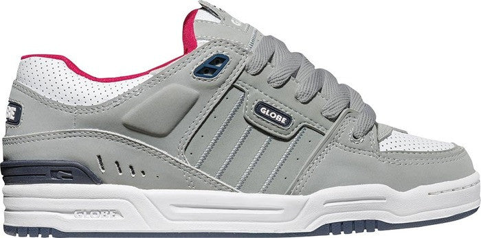 Globe Fusion - Grey/White/Navy - Mens Skateboard Shoes