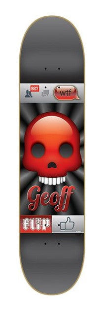 Flip Rowley Emoji - Black/Red - 8.0in - Skateboard Deck