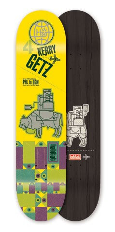 Habitat Kerry Getz Pack Animal - Yellow - 7.75 - Skateboard Deck
