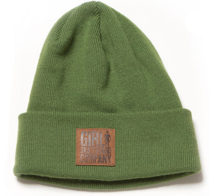 Girl Stamped Leather Fold - Army - Men's Beanie
