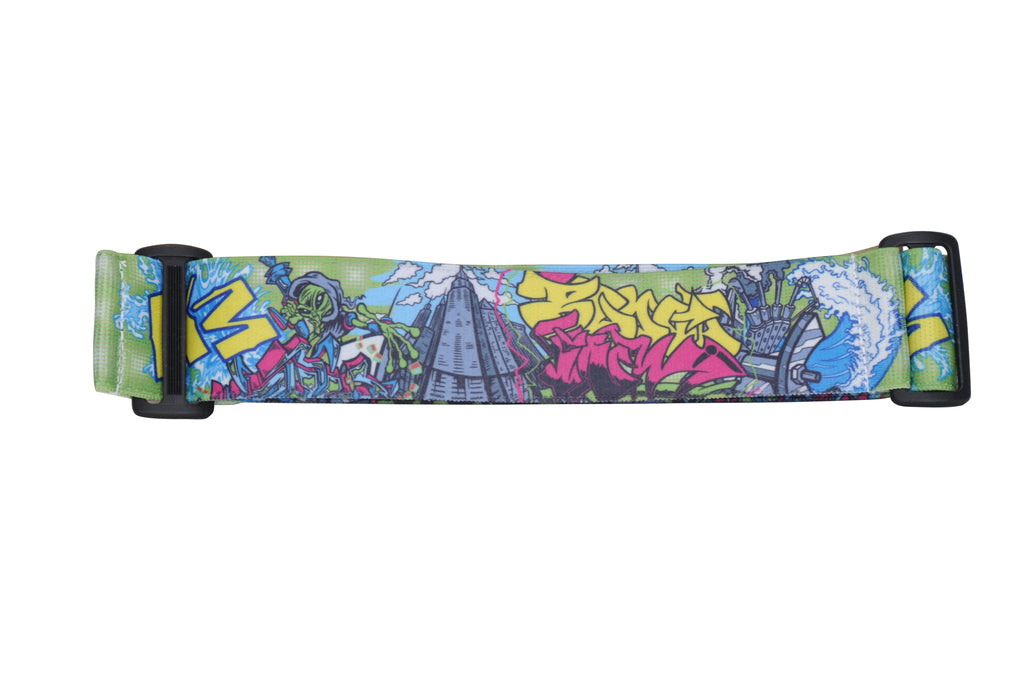 KM Paintball Goggle Strap - Graffiti Alien