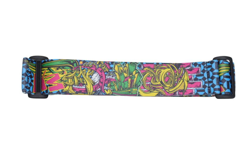 KM Paintball Goggle Strap - Graffiti Brick