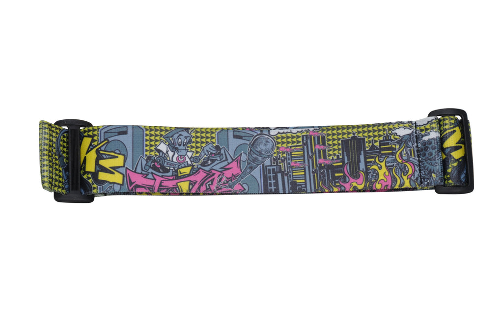 KM Paintball Goggle Strap - Graffiti Robot Black/Yellow