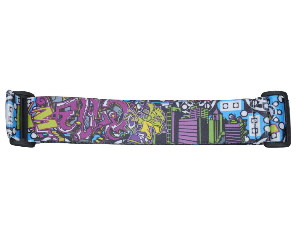 KM Paintball Goggle Strap - Graffiti Tagger Blue/White