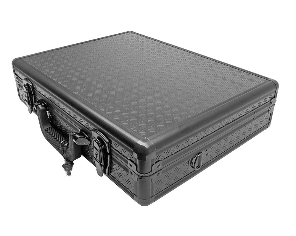 Aluminum Diamond Plate Gun Case w/ Keyed Locks - Black