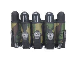 Gen X Global 5 Pod Vertical Paintball Harness - Woodland Camo