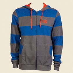 Habitat Monarch Full Zip Hoodie - Grey - Men's Sweatshirt