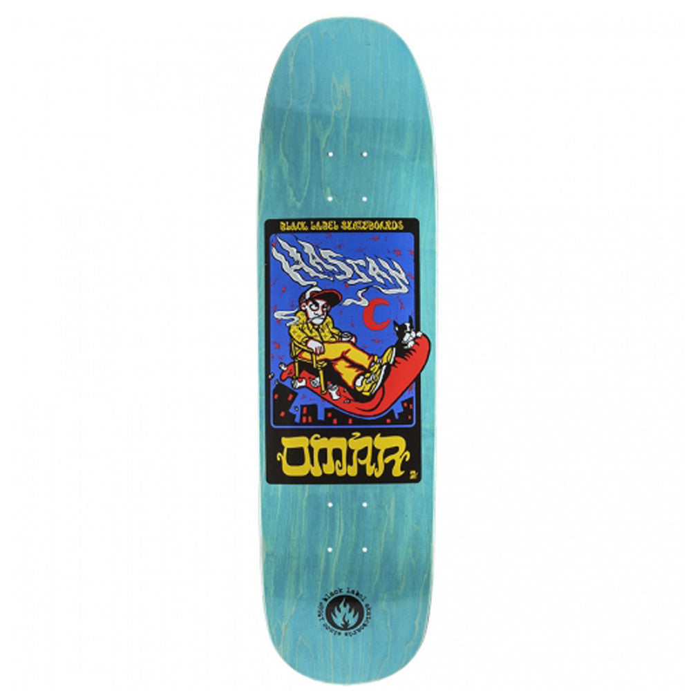 Black Label Omar Hassan Tribute - Blue - 8.62 - Skateboard Deck