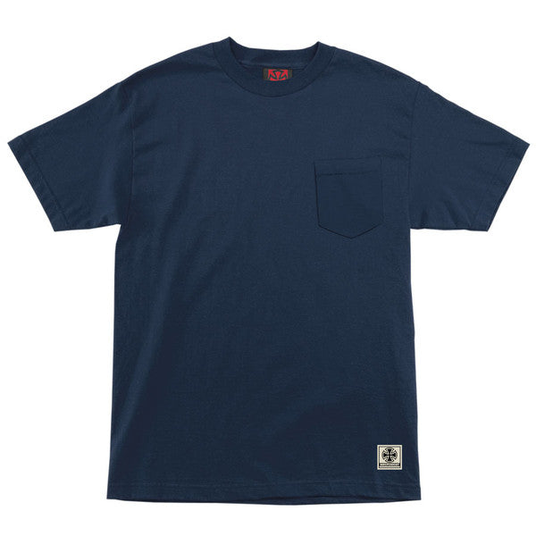 Independent NBT Pocket - Navy - Mens Short Sleeve T-Shirt
