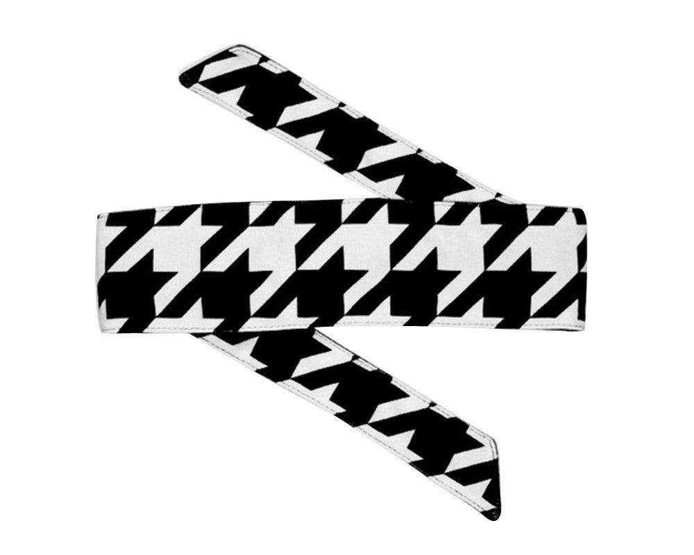 HK Army Headband - Houndstooth White