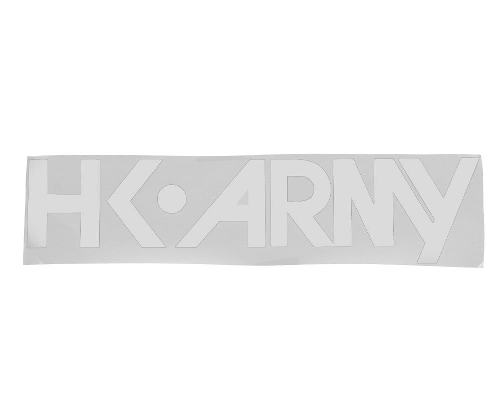 HK Army Typeface Car Sticker - White
