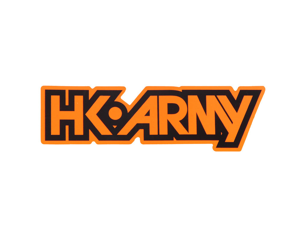 HK Army Typeface Sticker - Neon Orange