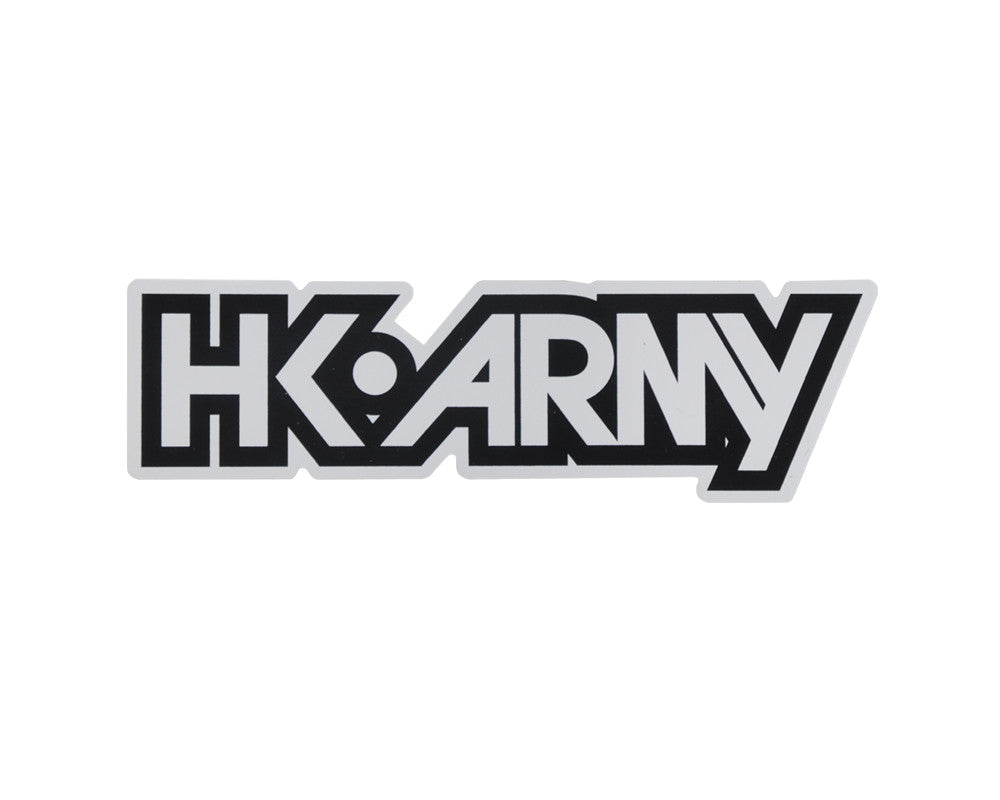 HK Army Typeface Sticker - White