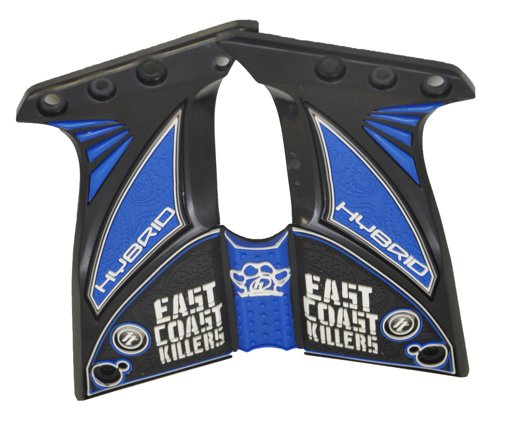 Hybrid DM Ultralite Paintball Grips - East Coast Killers - Blue