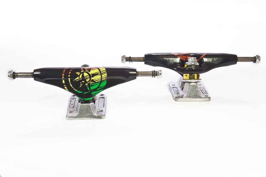 Orion Superior OG Rasta - Black/Silver - 140mm - Skateboard Trucks (Set of 2)